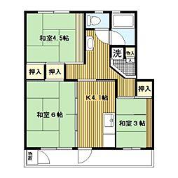 平塚田村[1-138号室]の間取り