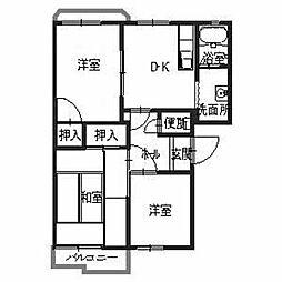 タウニィ高岡[2階]の間取り