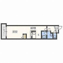 北海道札幌市白石区本郷通1丁目南の賃貸マンションの間取り