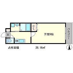 カノン修学院[2階]の間取り