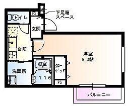 大阪府大阪市住吉区山之内2丁目の賃貸アパートの間取り