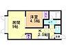 間取り,1LDK,面積37.26m2,賃料4.2万円,バス 函館バス東山団地下車 徒歩1分,,北海道函館市東山2丁目3番3号