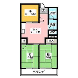 コーポ浅見[2階]の間取り