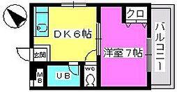 山本ビル[307号室]の間取り