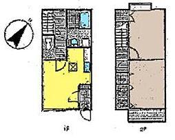 [テラスハウス] 神奈川県茅ヶ崎市富士見町 の賃貸【/】の間取り