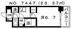 サンセリテ至誠会松崎町[603号室号室]の間取り