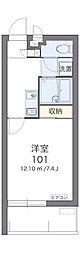 沖縄都市モノレール 壺川駅 徒歩20分の賃貸マンション 3階1Kの間取り