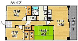 サワー・ドゥー住之江公園[4階]の間取り