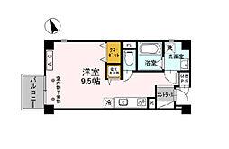 サクシード姫路駅南 1階ワンルームの間取り