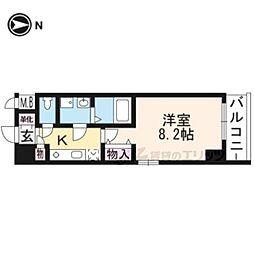 メゾン・トラスト京都梅小路公園 6階1Kの間取り