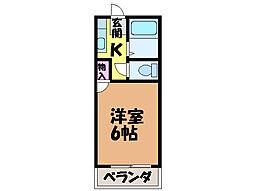 愛媛県松山市桑原7丁目の賃貸アパートの間取り