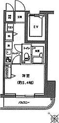 レア横濱中央[406号室]の間取り