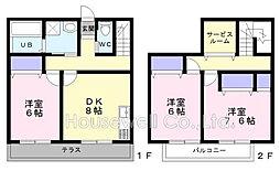[テラスハウス] 埼玉県さいたま市大宮区天沼町2丁目 の賃貸【/】の間取り