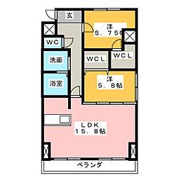 M's dreamX[3階]の間取り