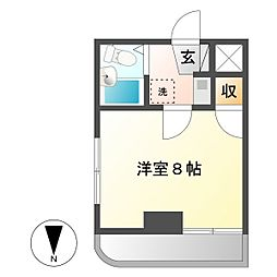 レヂデンス・ナガノ[305号室]の間取り