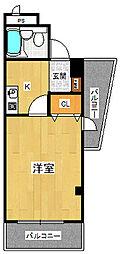 兵庫県西宮市里中町3丁目の賃貸マンションの間取り