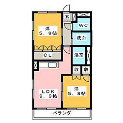 プチキャッスルⅡ[2階]の間取り