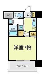 ふぁみ〜ゆ天王寺2[6階]の間取り