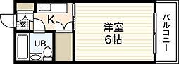 アメニティ長束II[1階]の間取り