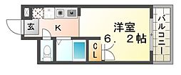エンデバー武庫之荘[3階]の間取り