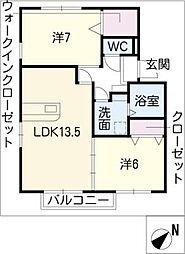 セピアコートIII[2階]の間取り