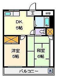第2タカサハイム[3階]の間取り