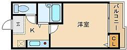 大阪府羽曳野市軽里3丁目の賃貸マンションの間取り