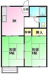 金子ハイツ2[2階]の間取り