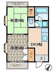 アーヴァインハイム[2階]の間取り