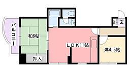 サンサーラ甲子園[305号室]の間取り