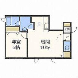 アクアトピア清田[2階]の間取り