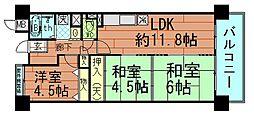 バース波除[4階]の間取り