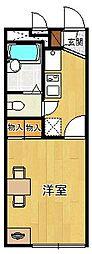 レオパレススプルース鳴尾[2階]の間取り