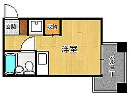 キューブ武庫川6[302号室]の間取り