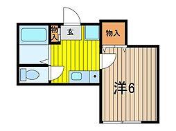 アネックス南浦和[1階]の間取り