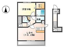コスモ[2階]の間取り