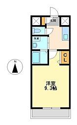 ボヌール津金[2階]の間取り