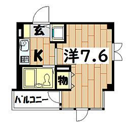 コパーズアプト鶴ヶ峰[201号室]の間取り