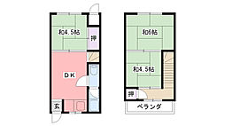 [テラスハウス] 兵庫県西宮市鳴尾町1丁目 の賃貸【/】の間取り