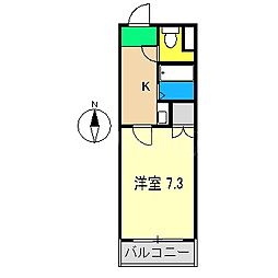 コーポ岩崎[3階]の間取り