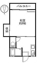松田ハイツB[201号室号室]の間取り