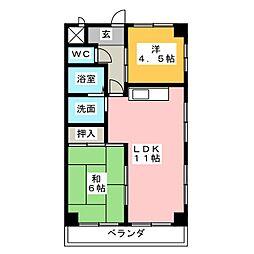 第2ヤブマチハウス[3階]の間取り