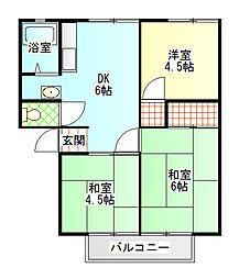 サンシティふじかわ[2階]の間取り