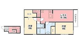 (仮)D-room北土居[208号室]の間取り