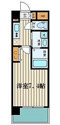 サムティ福島PORTA 2階1Kの間取り