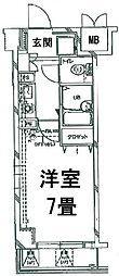 東京都港区三田2丁目の賃貸マンションの間取り