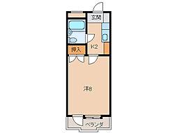 コーポ三沢[2階]の間取り