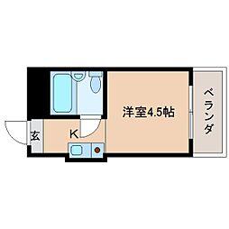 奈良県奈良市東紀寺町2丁目の賃貸マンションの間取り