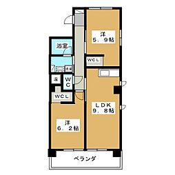 IL ROSSO堀川六角[10階]の間取り