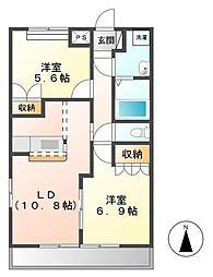 メゾン・ド・アンジュ[2階]の間取り